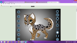 her name is fade a cat oc i made by autumnwolf5301