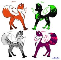 Foxes :D by emo2the3fox
