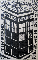Mini TARDIS print by The-Tinidril