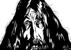 Alan Moore by glenkamo