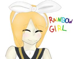 Rainbow Girl Rin by VickVicka