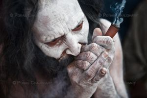 Smoking Pot, Kumbh Mela by poraschaudhary