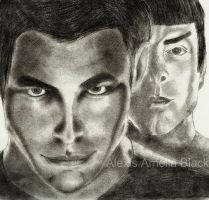 Kirk and Spock. by GraphiteStrike