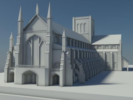 Winchester Cathedral - Low Res by Nephrae