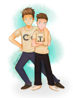 Caspar Lee and Joe Sugg - JASPAR by Super-Gia