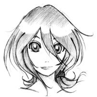 Rukia sketch by burnedbacon