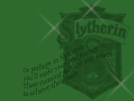 HP Wallpaper - Slytherin by khatt
