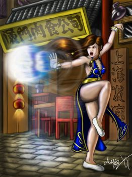 Colored Street Fighter V Chun Li Dress by MarioUComics