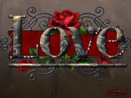 Marbel Text 2 (LOVE) by duzetdaram