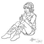Ocarina of Time: Saria lineart by bratchny