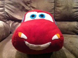 Lightning McQueen plush- front by bonniea423