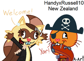 Happy welcome! by HandyxRussell10