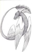 Draconic Feathers by lizziecat1279