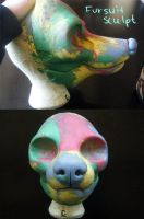 Resin Fursuit Base Clay Sculpt by alliemattable