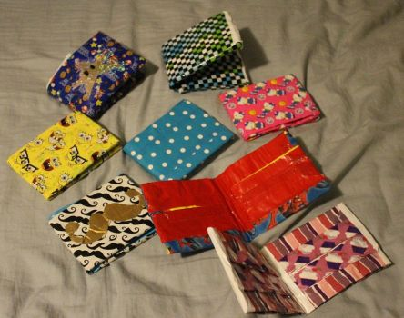 Duct Tape Wallets by puppyrock3