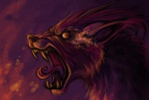 Barghest says hullo by HanMonster