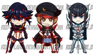 Kill La Kill chibis - updated by Red-Flare