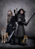 Fili, Kili and Their Daemons by LJ-Todd