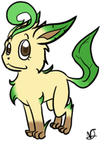 Leafeon Doodle by Aruesso