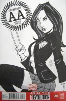 X-23 Avengers Arena Sketch Cover by calslayton
