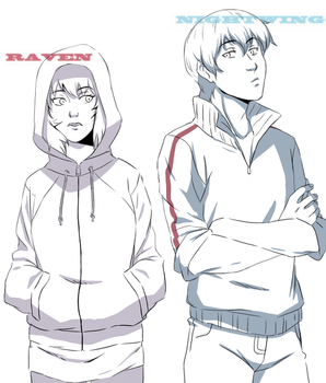 Raven and Nightwing by 1090506