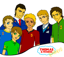 Thomas and Friends Humanised by BingotheCat