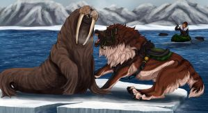 RoH - Fighting the Walrus by Zroya21