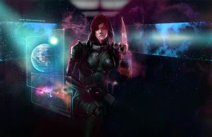 Commander Shepard by aelice