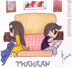 Sharing a bedroom by isnani