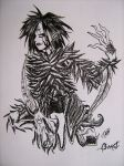 black and white beast by LilithGiroyami