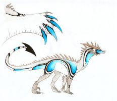 Ice dragon design by Rachelance