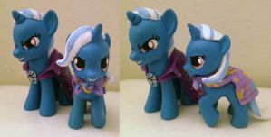 MLPFIM Adult and Filly GREAT + POWERFUL TRIXIE by omgwtflols