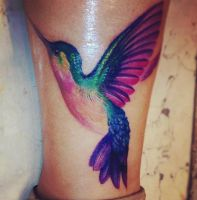 hummingbird tattoo by Scarlet22