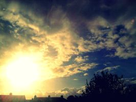 Blue sky and sun by LauraJA12