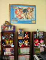 The Shelf of Sonic Merch by Rally-the-Cheetah