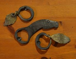 Horse and Leaf/vine bottle openers by AutumnDogForge