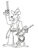 Sam and Max Wild West lines by Shinyako