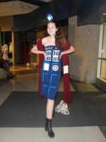 Old, New, Borrowed, Blue:Doctor Who TARDIS Cosplay by DaleksinWonderland