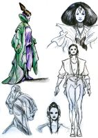 Amidala - Sketches by TheLadyNerd