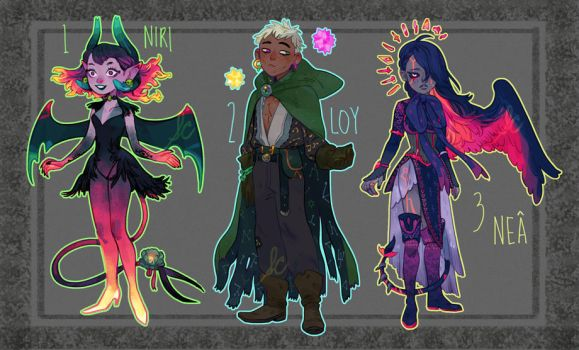 Adoptables 16 (CLOSED) by SunnyCove