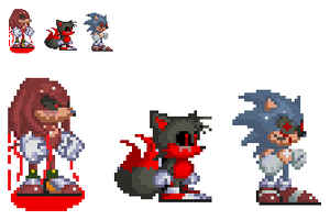 Sonic.EXE sprites by pinkfloyd1234