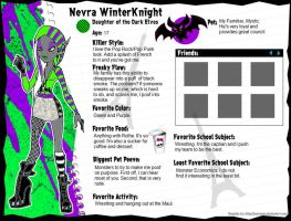 Nevra WinterKnight Profile by GrandLove09