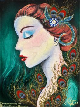 Peacock by barbara-art