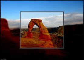 View of Delicate Arch by skoticus