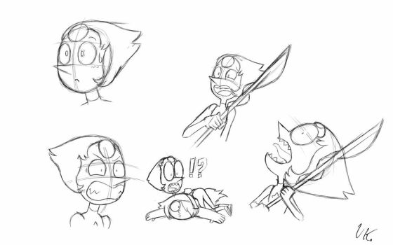 Pearl freak out sketches by Vega-kun