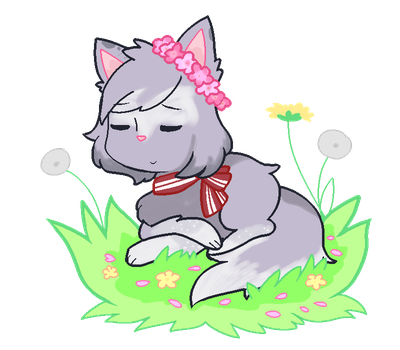 Cherry blossom flower crown  (T-C Activity Check) by emilyldraws0303