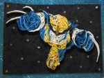 Art Crossing Gift 4 - Quilled Wolverine by Clarobell
