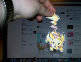 Pikachu Paperchild Gift by Gingersnap87