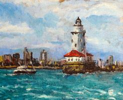 Lake Michigan Lighthouse by thecip