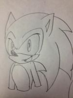 My Sonic The Hedgehog drawing (on paper) by FiveNightsAtFoxys